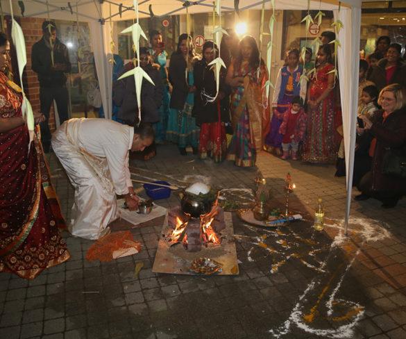 Am ersten Januar erblüht ein tamilischer Feiertag